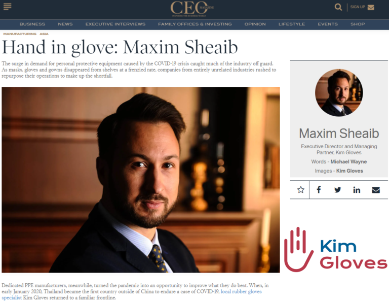 The CEO Magazine Asia Interview with Maxim Sheaib