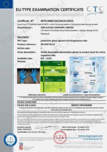 KG CE EN 374-5 Nitrile NT1 certification and test report-02