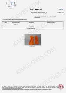 KG CE EN ISO 21420 Household rubber glove certification and test report-3