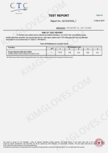 KG CE EN ISO 21420 Household rubber glove certification and test report-5