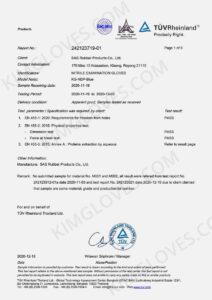 KG EN 455 Nitrile NT1 Test report-1